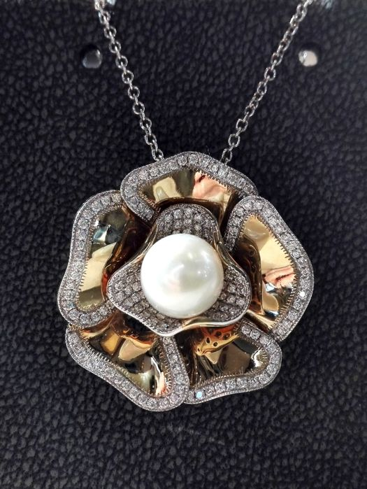 18 kt. Yellow gold - Necklace with pendant Mixed - Diamonds