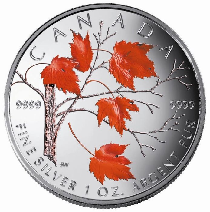 Canada - 5 Dollar 2004 - Maple Leaf: Winter - 1 Oz - Silver