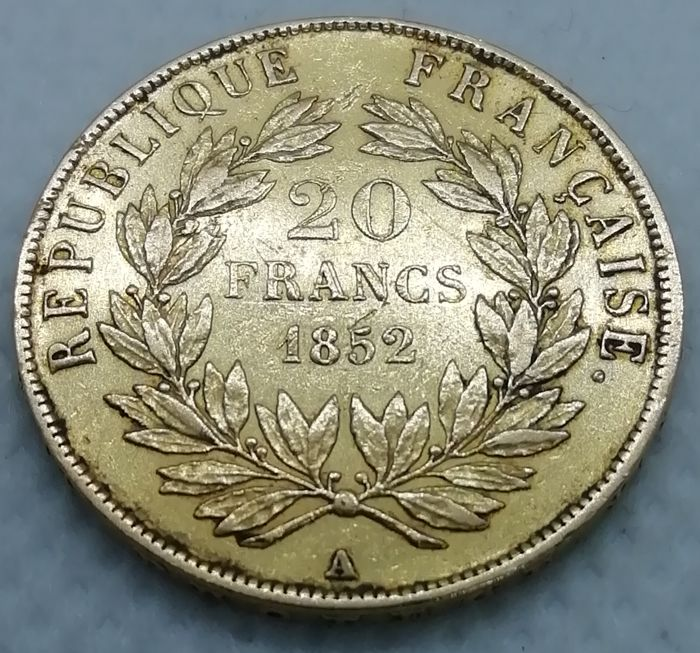 20 Francs 1852-A Louis Napoleon - Or