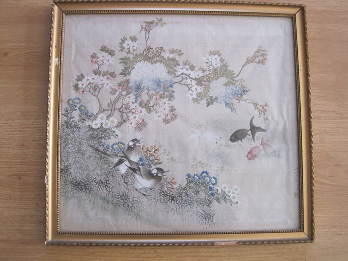 Framed painting - Linen - China - Republic period (1912-1949)