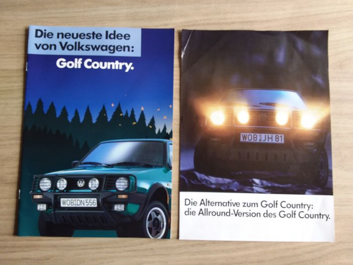 Brochures / Catalogi - Volkswagen Golf Country, 1990 sehr seltsam (2 items)