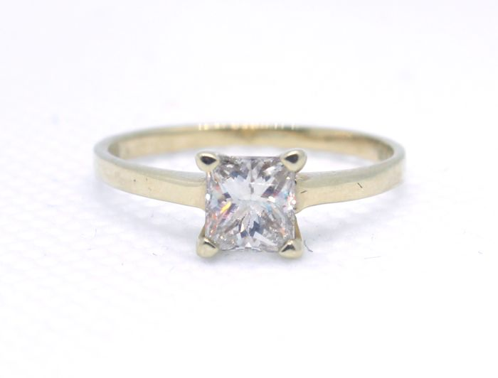 Princess Diamond  - 14 carats Or jaune - Bague - 0.63 ct Diamant