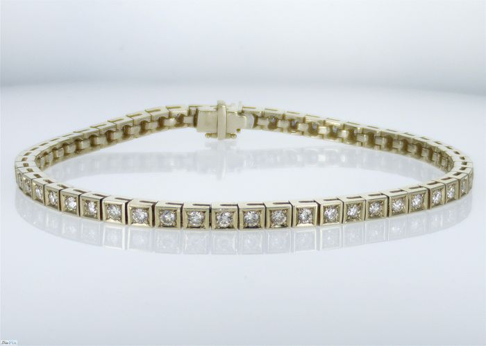 14 kt. Yellow gold - Bracelet - 2.00 ct Diamond