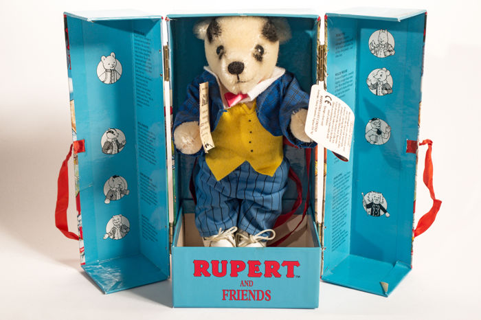 Merrythought - Rupert and Friends - limited edition - Animale di peluche Bill Badger - Regno Unito
