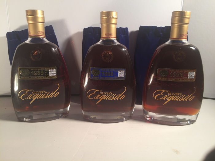 Oliver & Oliver - Exquisito 1985, 1990, 1995 - Rum artesenal - 70cl - 3 bouteilles