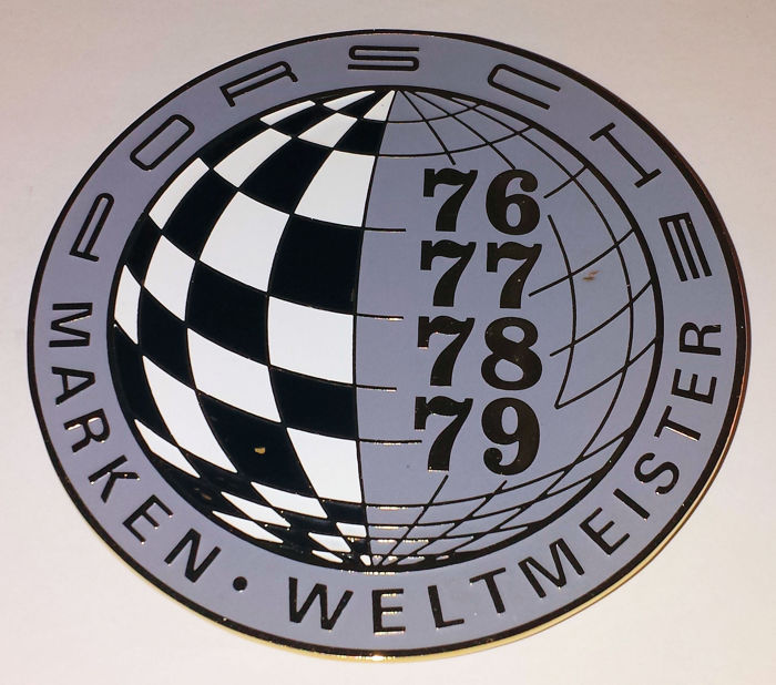 Decoratief object - Porsche - Marken Weltmeister  - 1976-1979 (1 items)