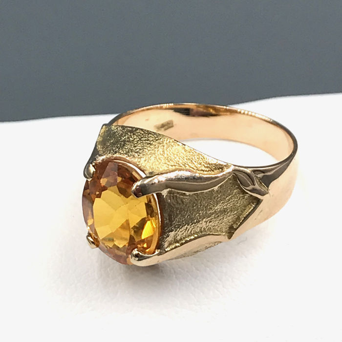 18 kt. Yellow gold - Ring - 1.00 ct Topaz