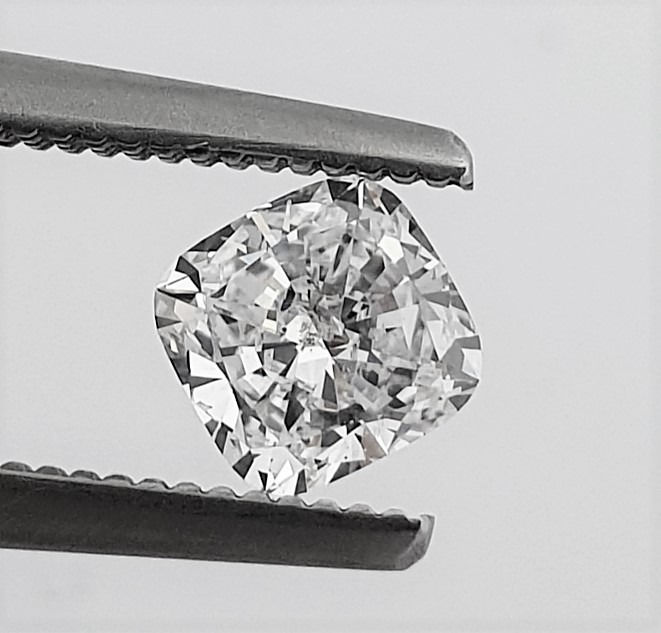 Diamant - 0.60 ct - Coussin - D (incolore) - SI1
