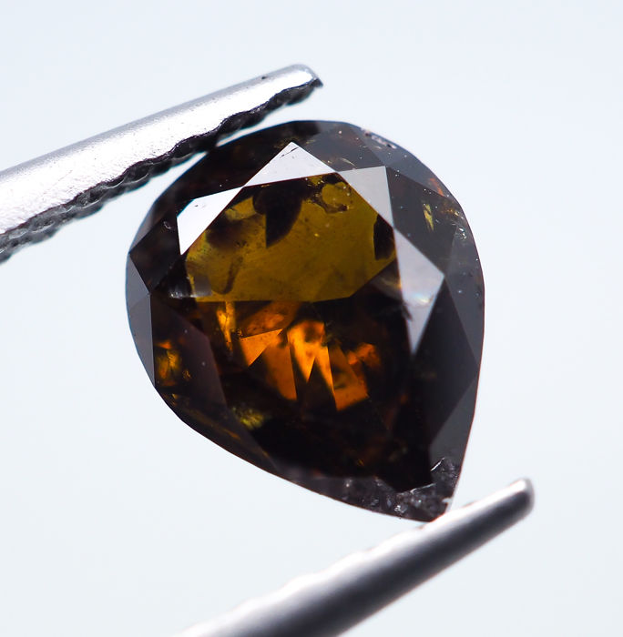 Diamante - 1.02 ct - Natural Fancy DEEP Yellowish Brown - I1 *NO RESERVE*