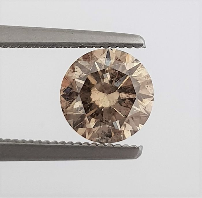 Diamante - 1.50 ct - Brillante - Natural Fancy Champagne - SI1