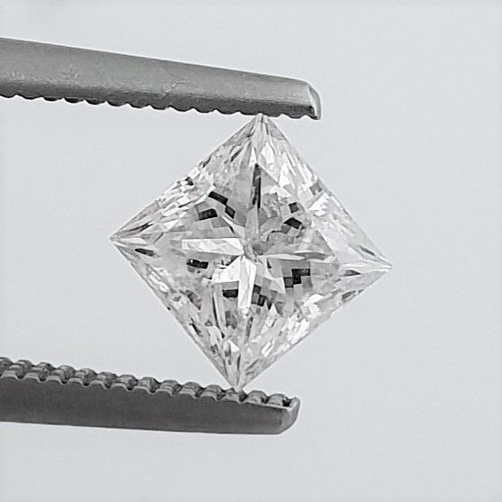 Diamant - 1.02 ct - Prinzess - D (farblos) - SI1