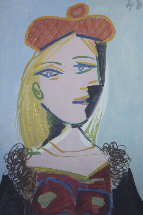 Pablo Picasso (after) -  Woman`s portrait