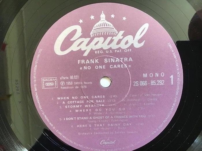 8627e693 Frank Sinatra - 8 x LP's - Swingin Affair, No Ones Cares, Come Dance With Me...  - Multiple titles - LP's - 1978/1981
