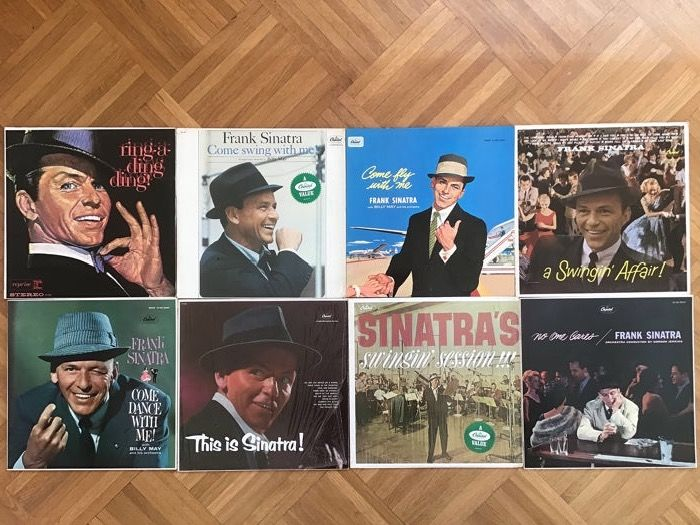 2a90c148 Frank Sinatra - 8 x LP's - Swingin Affair, No Ones Cares, Come Dance ...