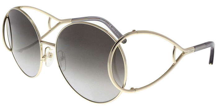 Chloé - Gold Special Double Temples Round Jackson - New - Made in Italy - 2019 Sunglasses