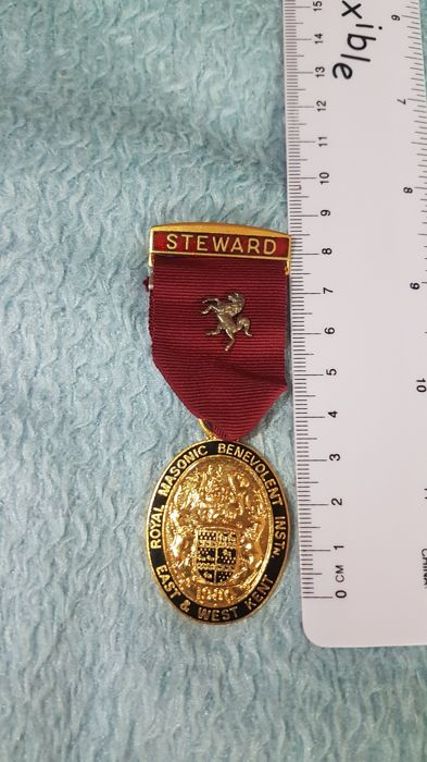Steward Masonic Medal (1) - Messing