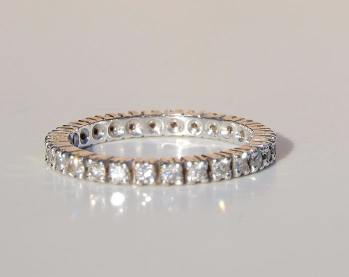 Alliance américaine - 18 kt. Valkokulta - Sormus - 0.60 ct Timantti
