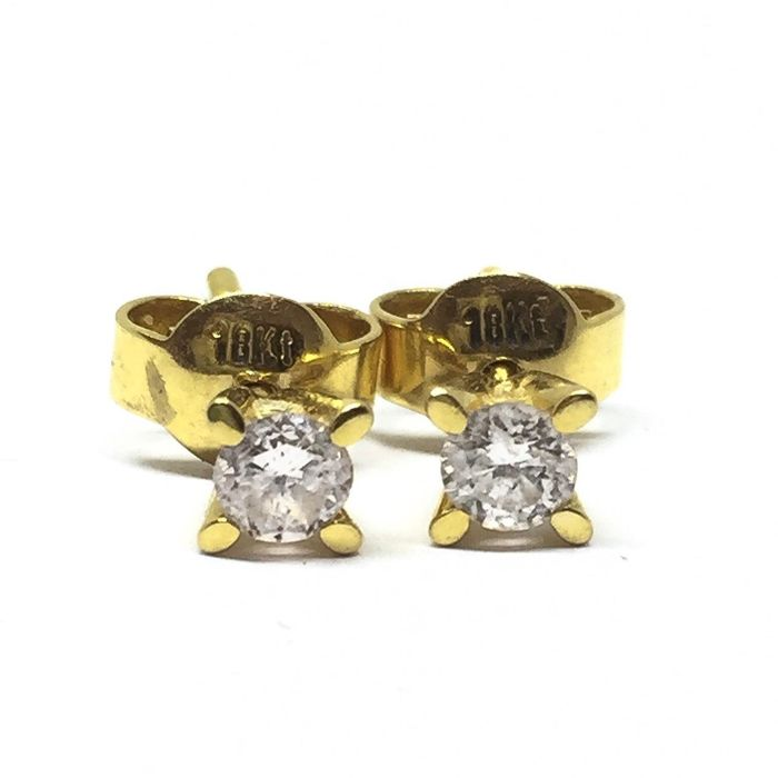 18 kt. Yellow gold - Earrings Diamond