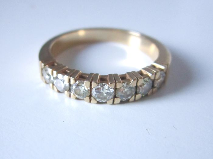 14 kt. Yellow gold - Ring - 1.00 ct Diamonds I / VVS