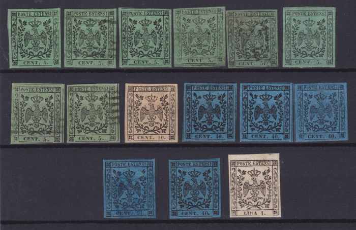 Italië - Modena, issue with dot after the figure, set of values of good/very good quality - Sassone