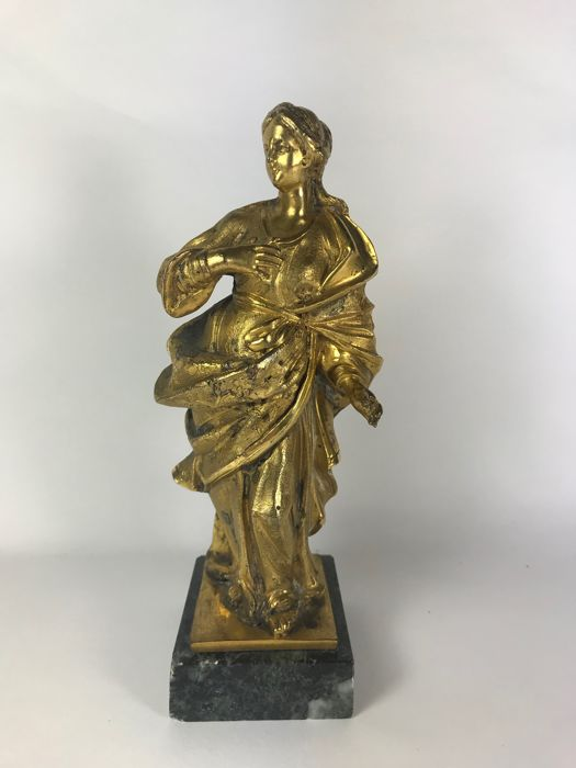 possibly Mary Magdalene, Sculpture (1) - Gold plated, Zamac - Second half 19th century