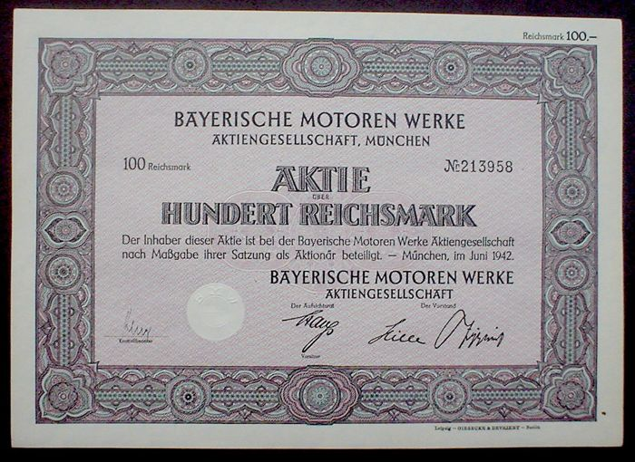 Certificaat - BMW 100 RM + 3 x M.A.N. Trucks - 1914-1952 (3 items)