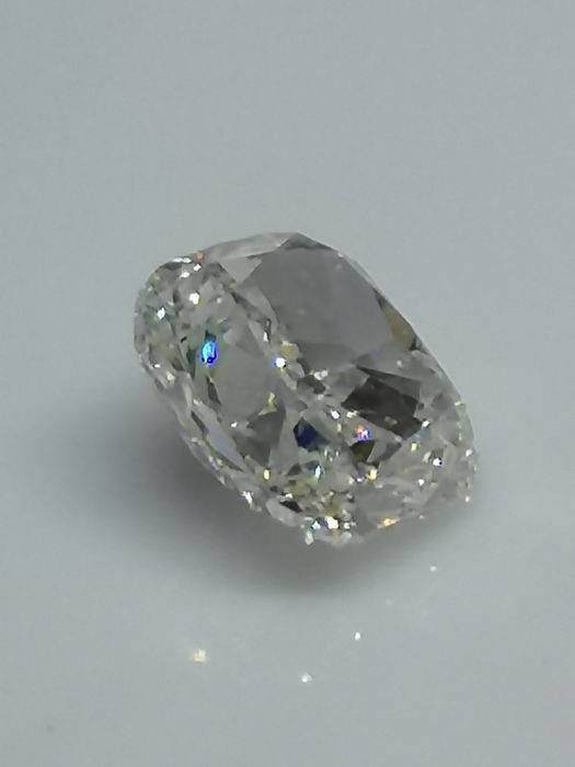 1 pcs Diamant - 1.11 ct - Cushion - M faint brown - SI1