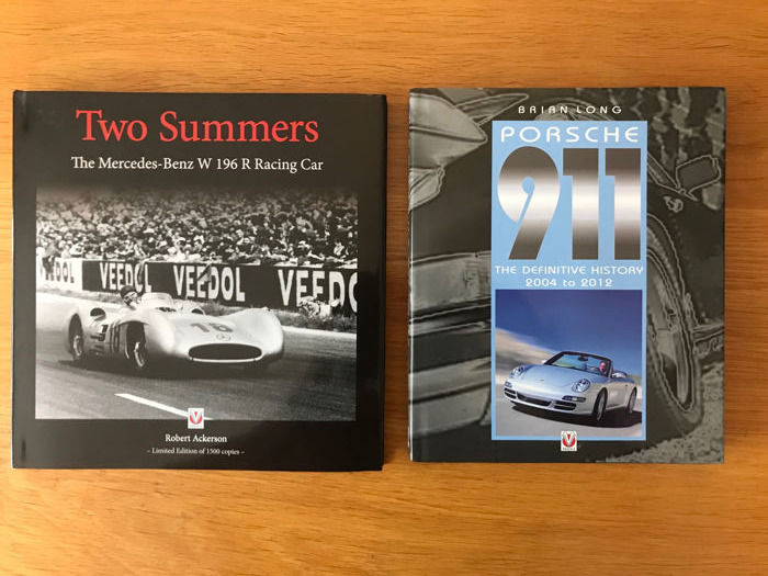 Boeken - Two Summers The Mercedes Benz 196 Racing & Porsche 911 Books  - 2015-2016 (2 items)