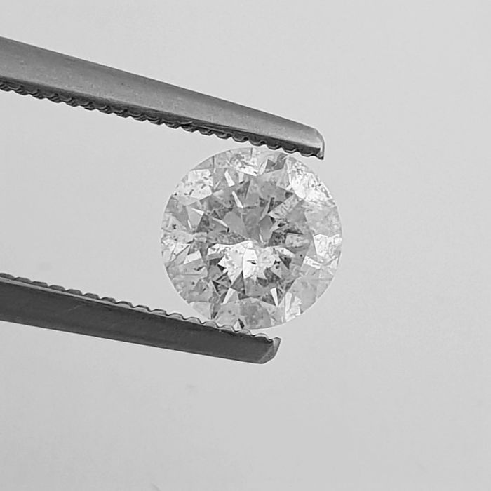 Diamant - 1.01 ct - Brillant - D (farblos) - SI2