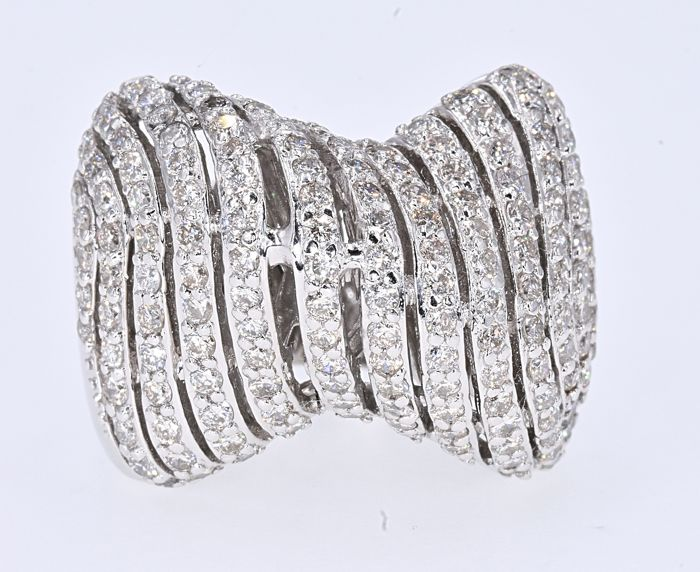 18 karaat Witgoud - Ring - 1.73 ct Diamant