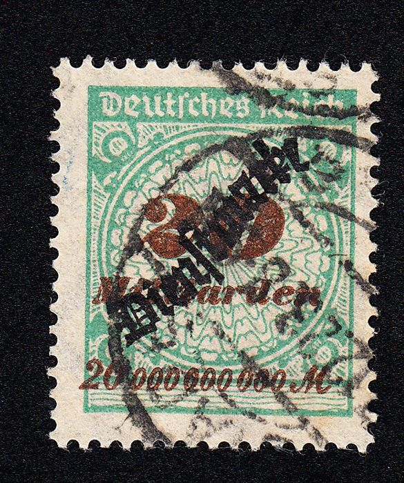 Duitse Rijk 1923 - Official stamp, full postmark, with brief expert finding - Michel 87