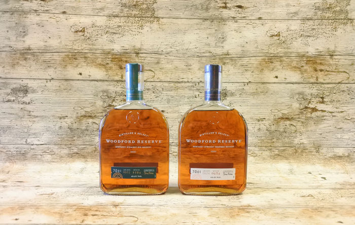 Woodford Reserve Kentucky Straight Rye and Bouron Whiskey - 70cl - 2 flessen
