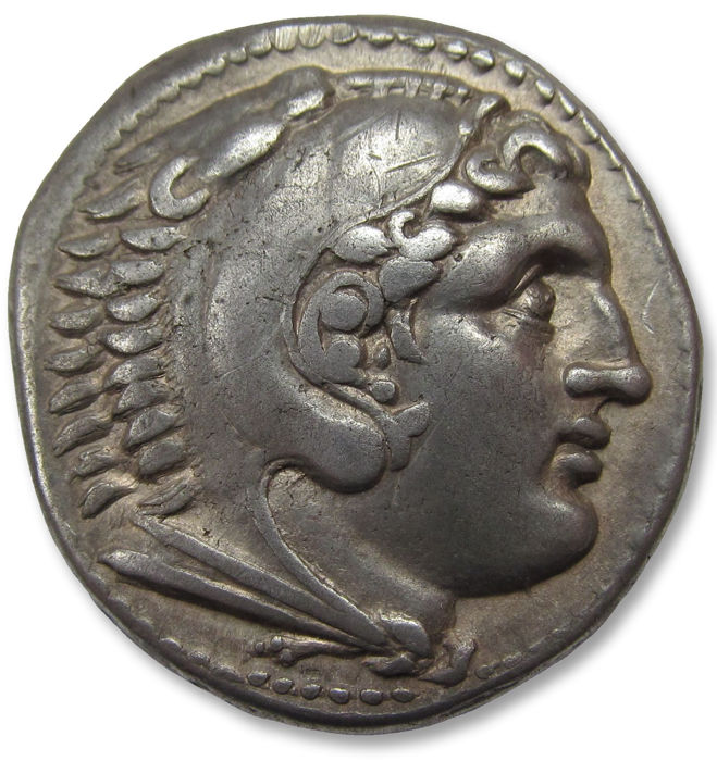 "Greece (ancient) - Kings of Macedon. AR tetradrachm, Alexander III ""The Great"". Perga (?) mint 285-200 B.C. - Silver"