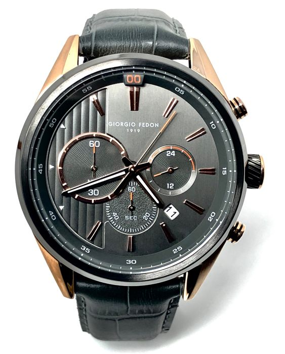 "Giorgio Fedon 1919 - Vintage VI Rose Gold Leather Strap ""NO RESERVE PRICE"" - GFBD005 - Heren - BRAND NEW"