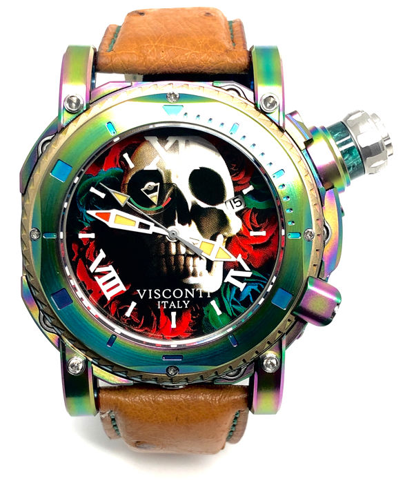 Visconti - Sport Dive 3000 Skull & Roses Limited Edition 08/39 - KW53-01 - Heren - BRAND NEW