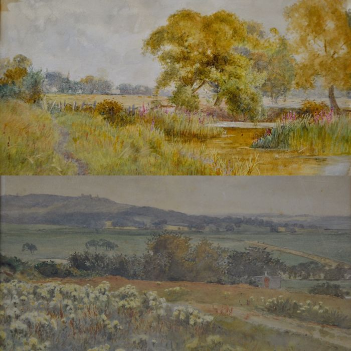 John H. Tyson (Act. 1886-1905) - A pair of river and country landscapes