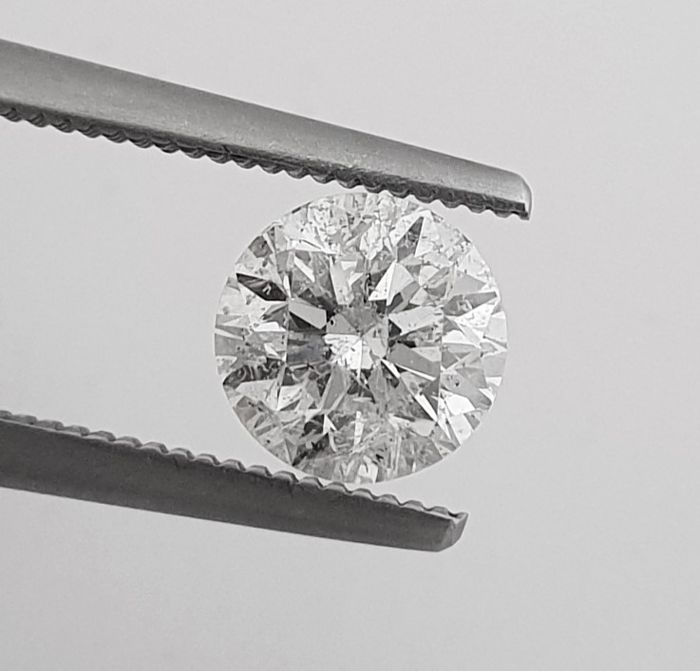 Diamant - 1.30 ct - Brillant - G - SI2