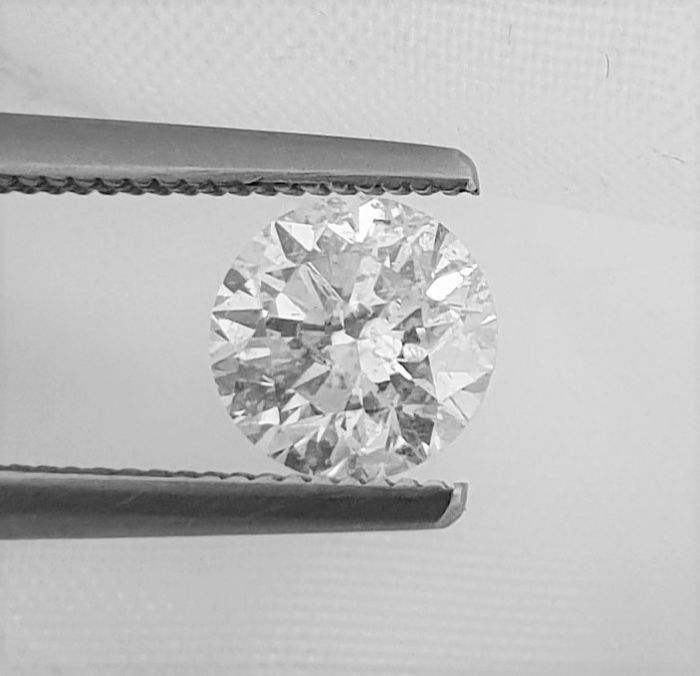 Diamant - 1.02 ct - Briljant - H - SI2
