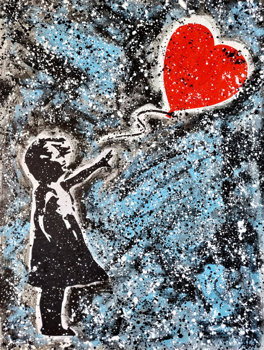 Umberto Alizzi - Love and Hope (After Banksy)