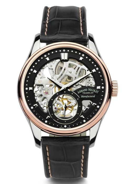 Armand Nicolet - LS8 Small Second Limited Edition mit 18kt Gold - 8620S-NR-P713NR2 - Heren - 2011-heden