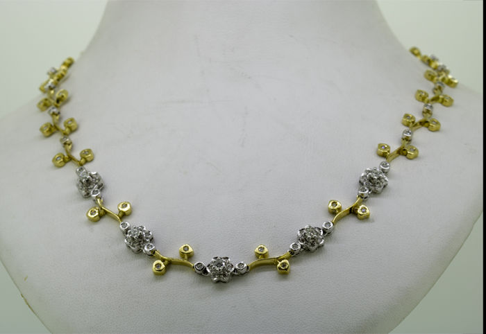 18 kt. Yellow gold - Necklace - 2.65 ct Diamond