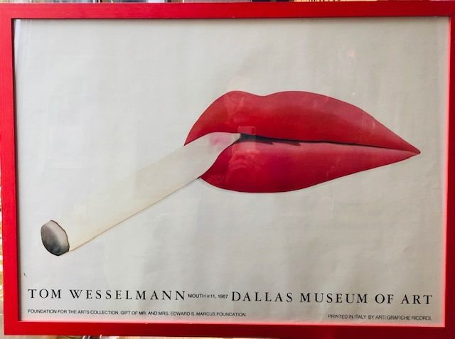 Tom Wesselmann - Mouth, Dallas Museum of Art  - Années 1980