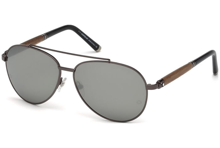 Montblanc - Aviator Gunmetal Wood ZEISS Lenses - New - 2019 - Made in Italy Sunglasses