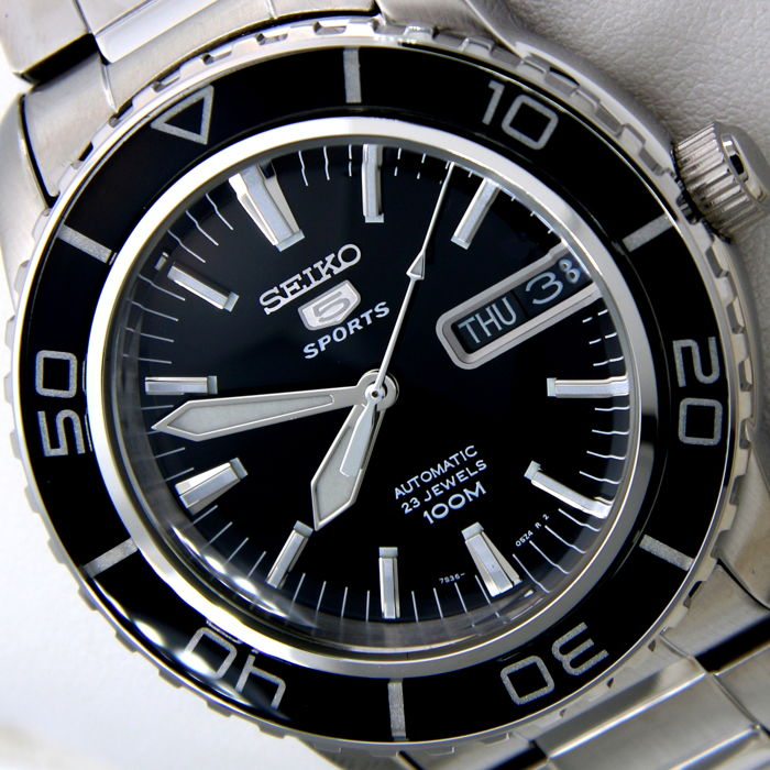 "Seiko - Automatic 23 Jewels ""50 Fathoms"" Black - ""NO RESERVE PRICE"" - Uomo - 2018"