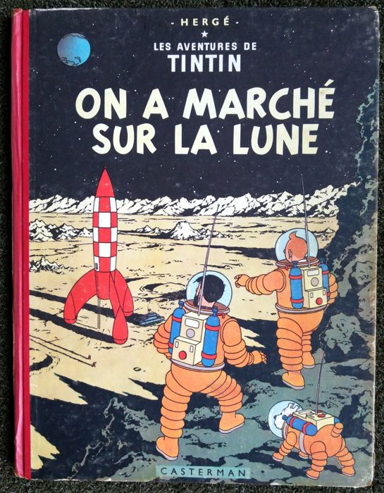 Tintin T17 - On a marché sur la Lune (B11) - C - First edition - (1954)