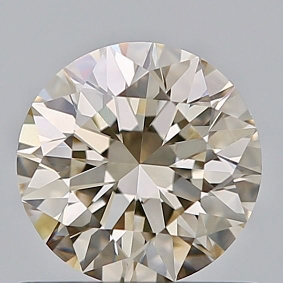 1 pcs Diamant - 0.59 ct - Rond - Faint brown - VVS2