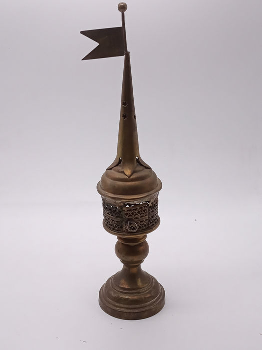 Besamim Tower Very Rare.. Museum Quality, Judaica - Copper