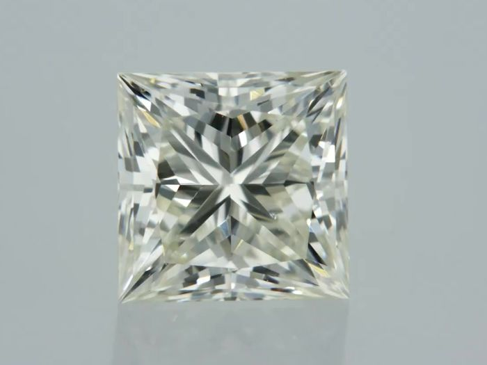 1 pcs Diamant - 0.90 ct - Prinses - I - VVS1