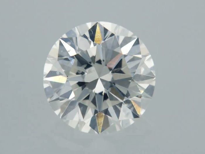 1 pcs Diamond - 0.72 ct - Kerek - G - SI2