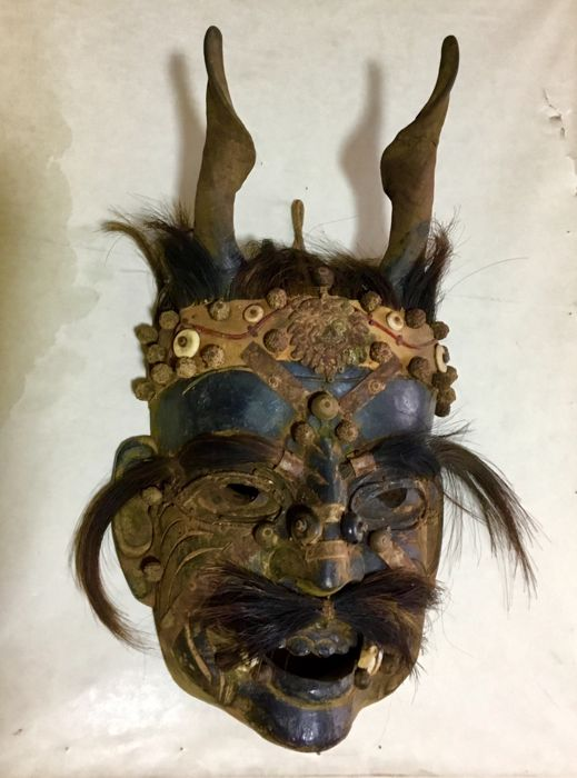 Large Demon mask used in local villages - NEPAL - TIBET